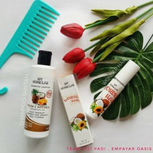 combo shampoo santan dan wonder hair oil